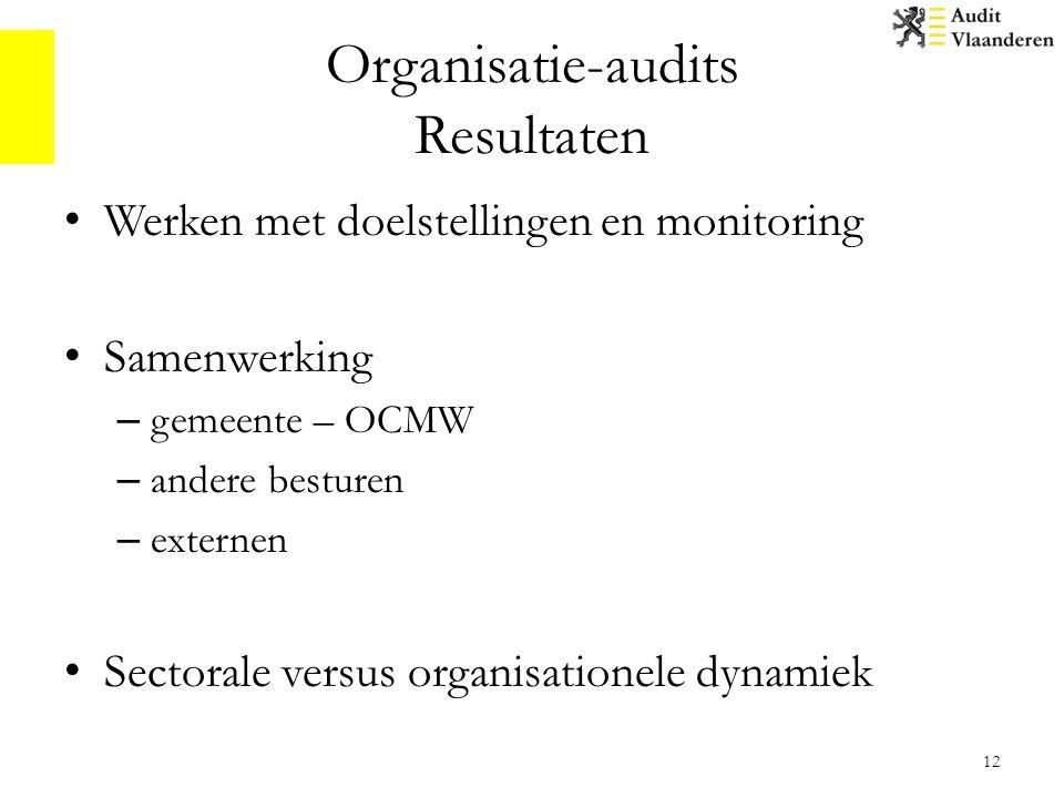 Organisatie-audits Resultaten