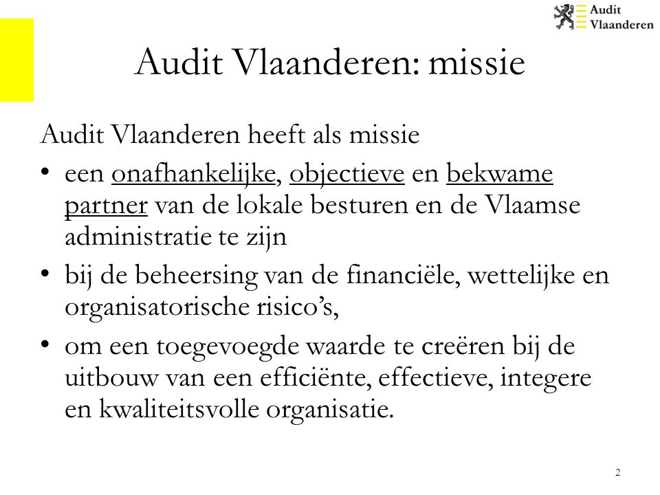 Audit Vlaanderen: missie