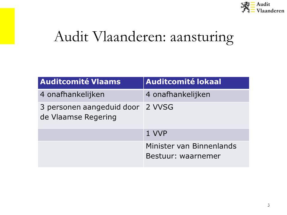 Audit Vlaanderen: aansturing