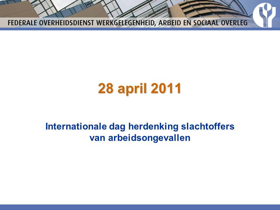 Internationale dag herdenking slachtoffers van arbeidsongevallen