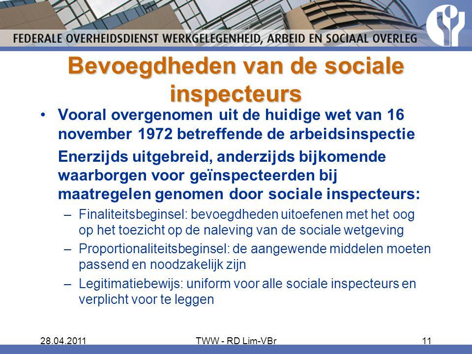 Bevoegdheden van de sociale inspecteurs
