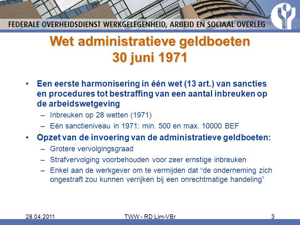 Wet administratieve geldboeten 30 juni 1971