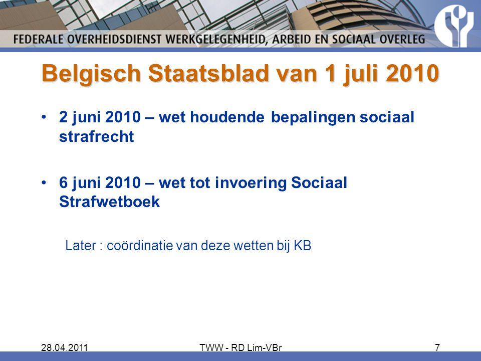 Belgisch Staatsblad van 1 juli 2010