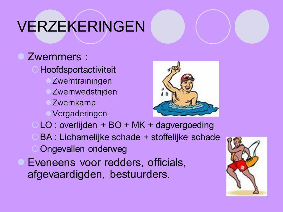 VERZEKERINGEN Zwemmers :