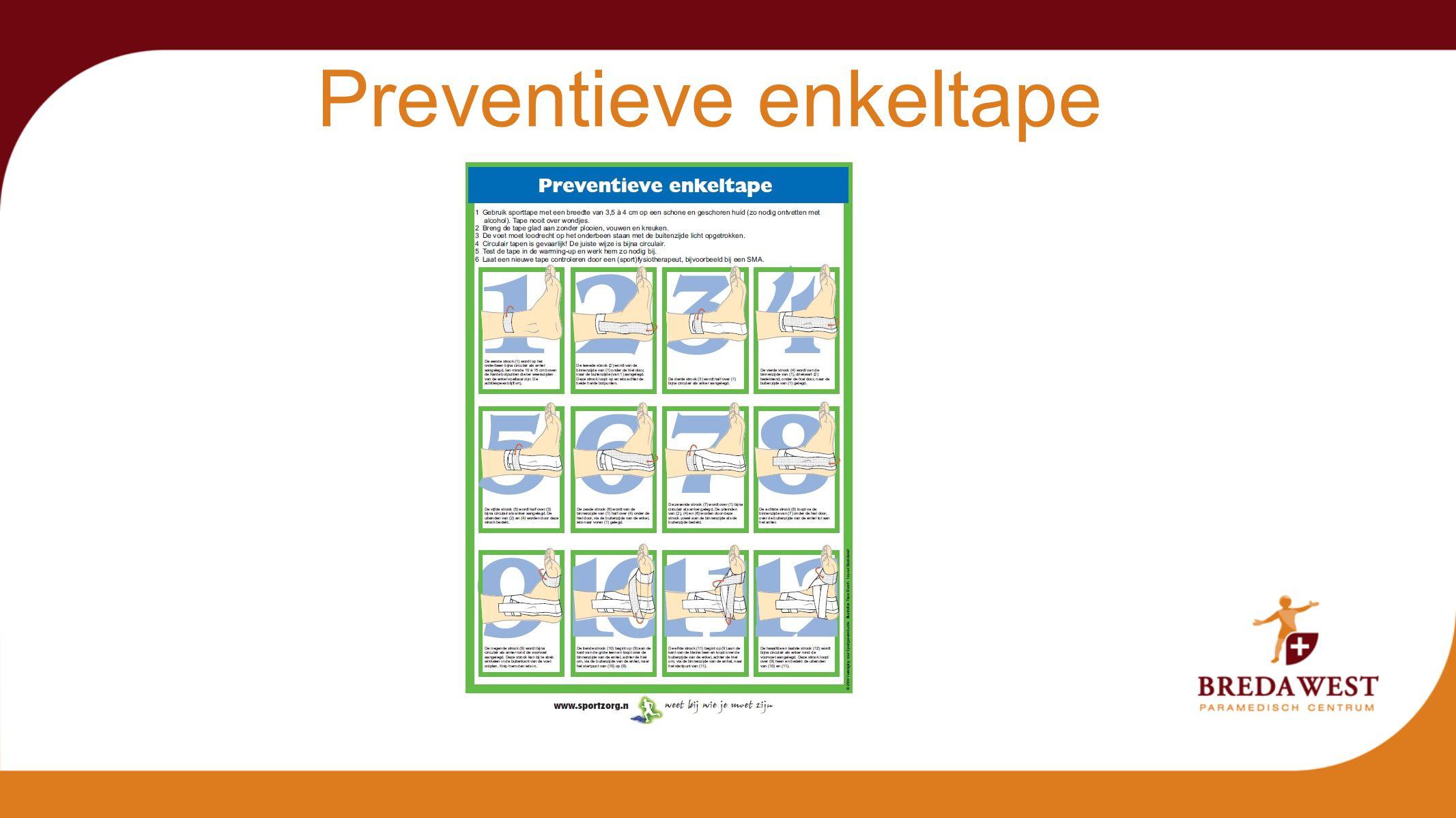 Preventieve enkeltape