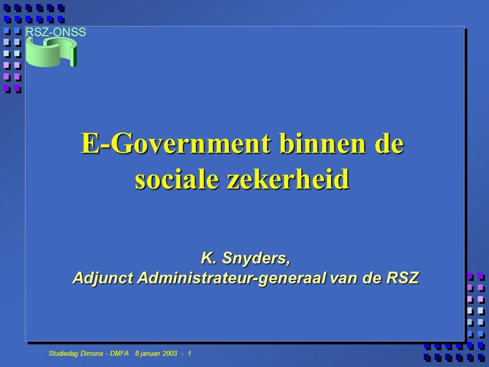 E-Government binnen de sociale zekerheid
