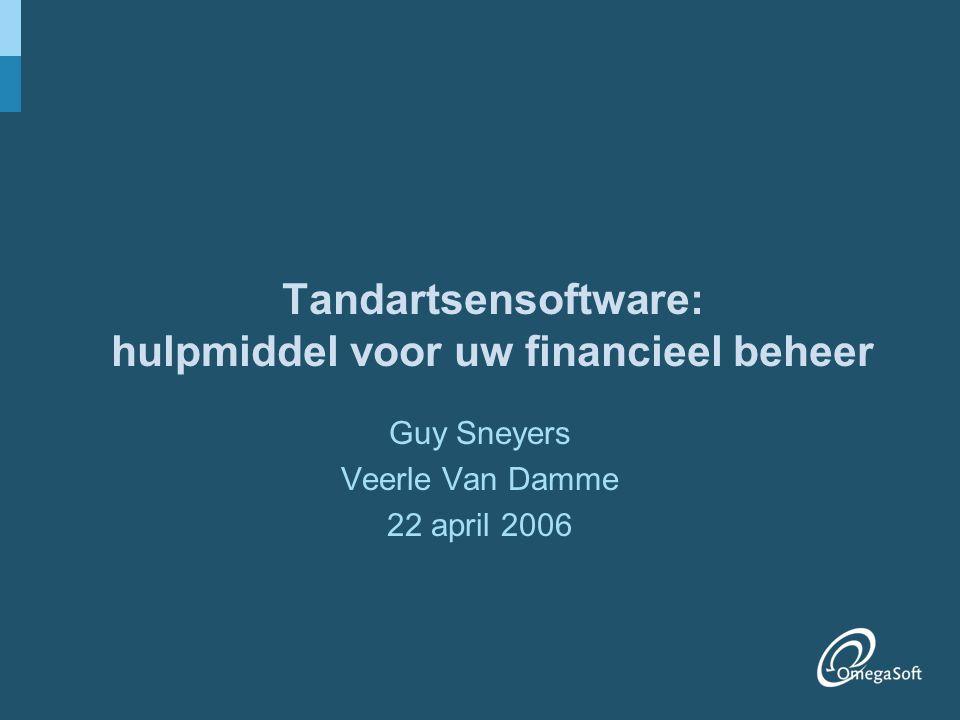 Tandartsensoftware: hulpmiddel voor uw financieel beheer