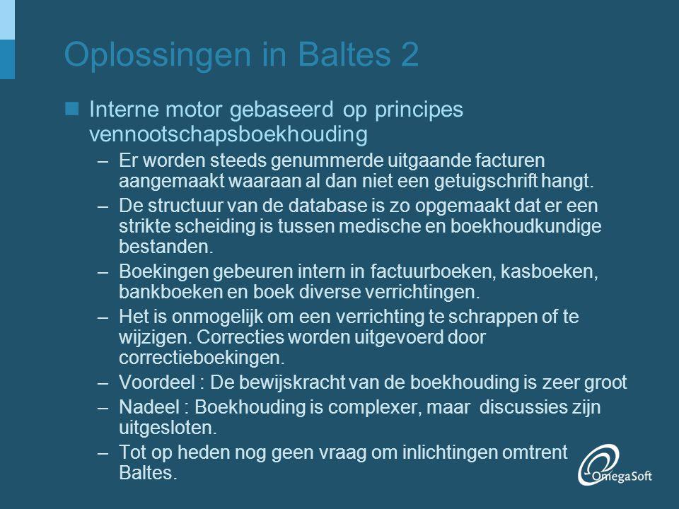 Oplossingen in Baltes 2 Interne motor gebaseerd op principes vennootschapsboekhouding.