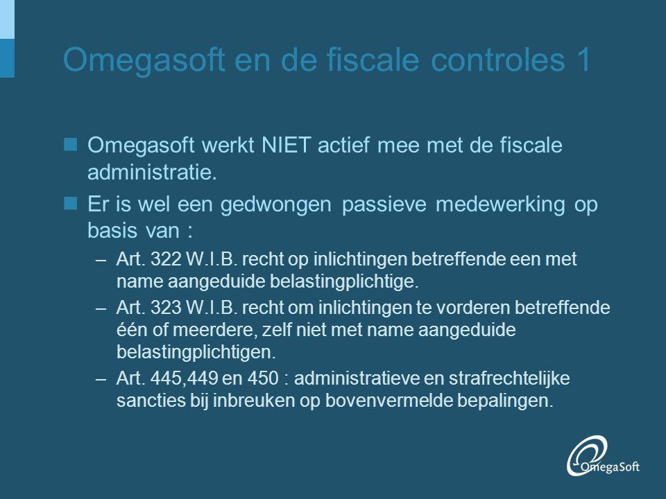 Omegasoft en de fiscale controles 1