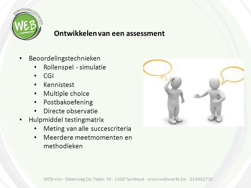 Ontwikkelen van een assessment