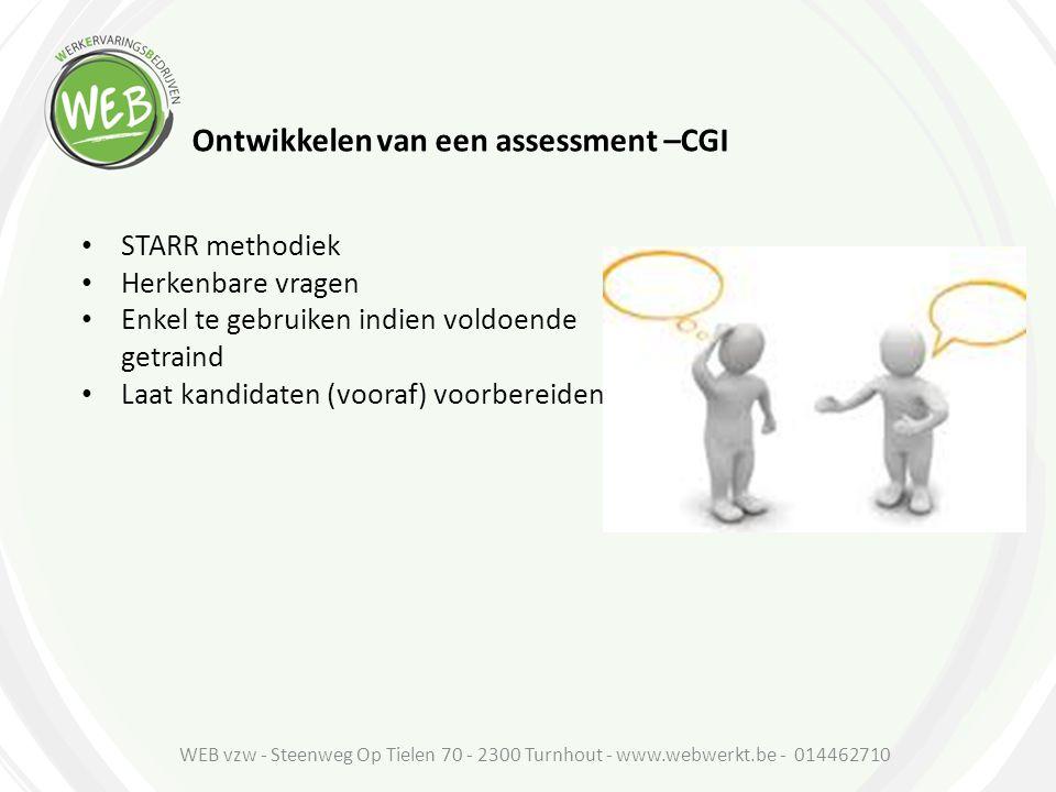 Ontwikkelen van een assessment –CGI