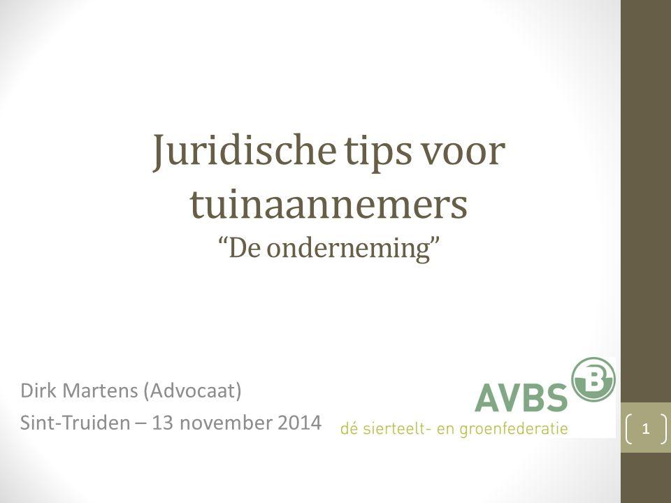 Juridische tips voor tuinaannemers De onderneming