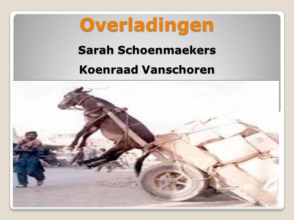 Overladingen Sarah Schoenmaekers Koenraad Vanschoren