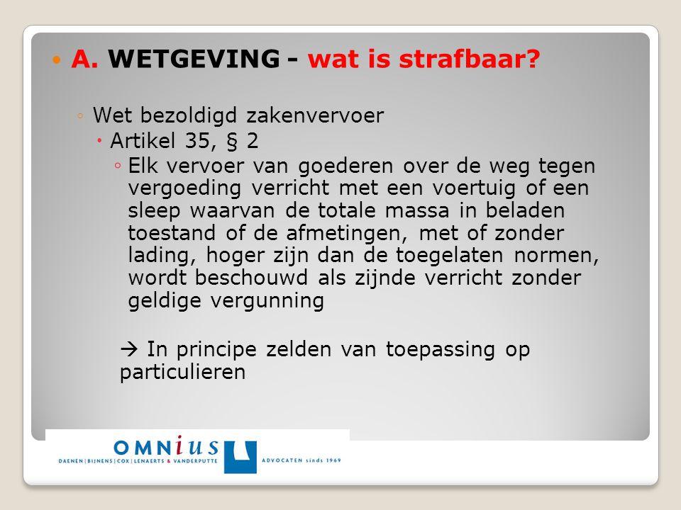 A. WETGEVING - wat is strafbaar