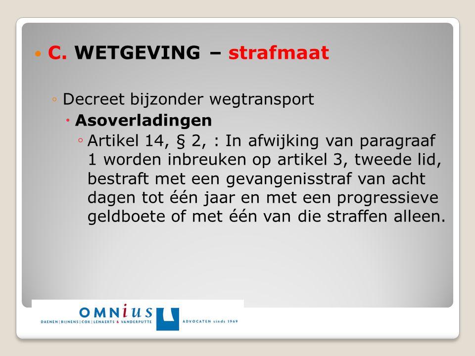 C. WETGEVING – strafmaat