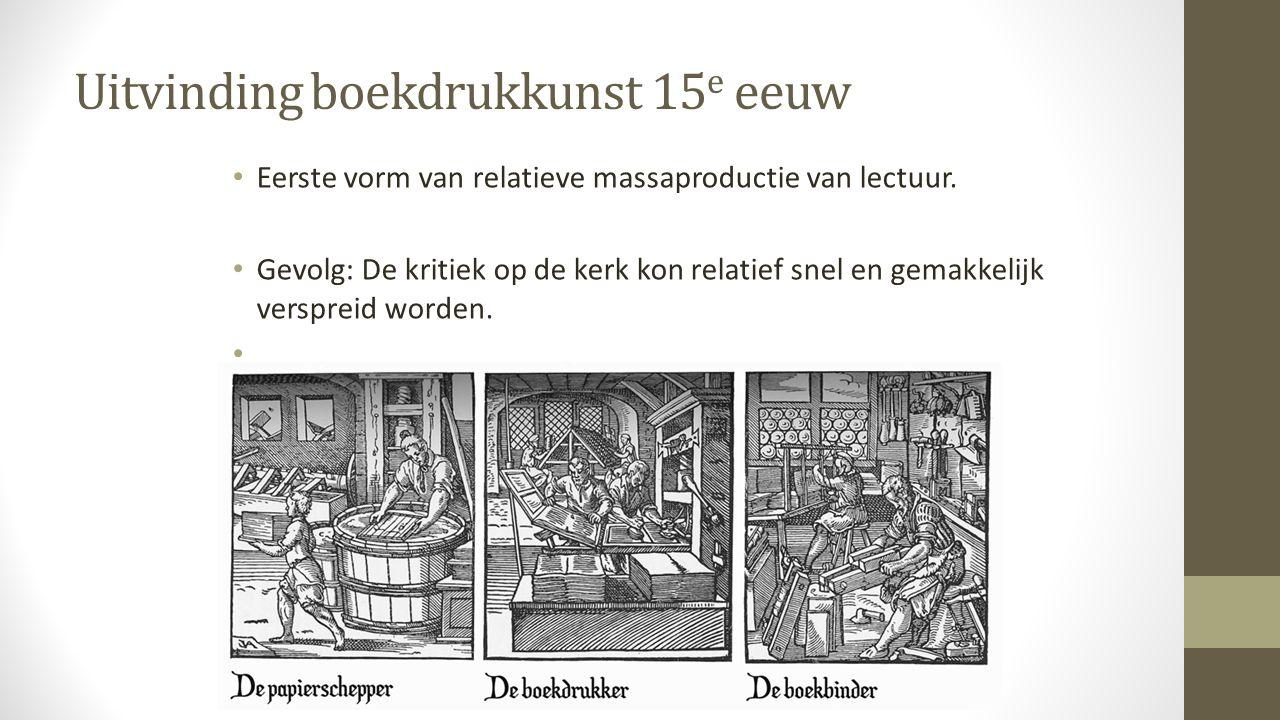 Uitvinding boekdrukkunst 15e eeuw