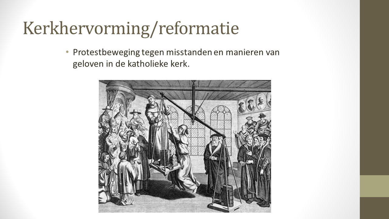 Kerkhervorming/reformatie