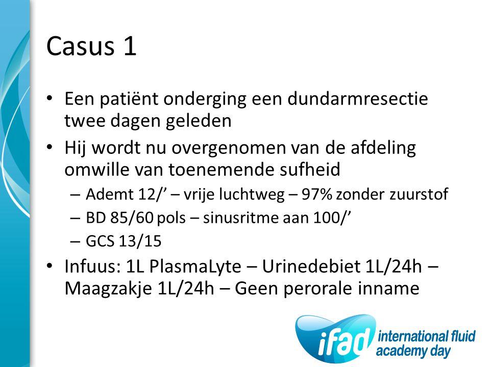 Casus 1 Een patiënt onderging een dundarmresectie twee dagen geleden