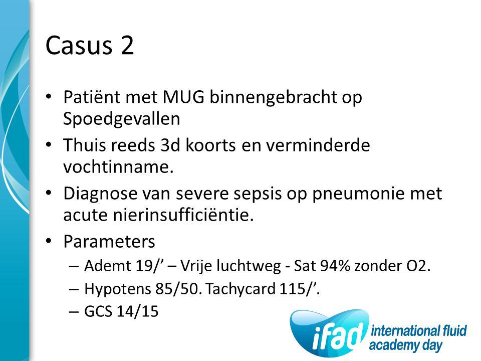 Casus 2 Patiënt met MUG binnengebracht op Spoedgevallen
