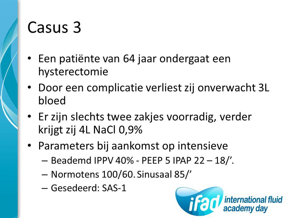 Casus 3 Een patiënte van 64 jaar ondergaat een hysterectomie