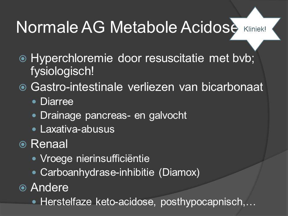 Normale AG Metabole Acidose