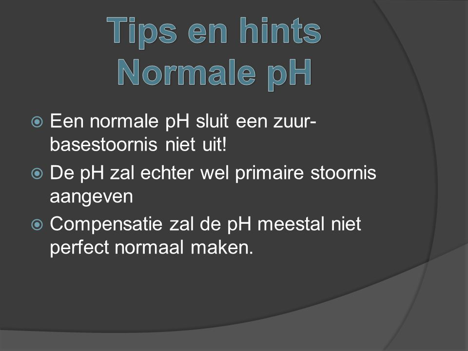 Tips en hints Normale pH