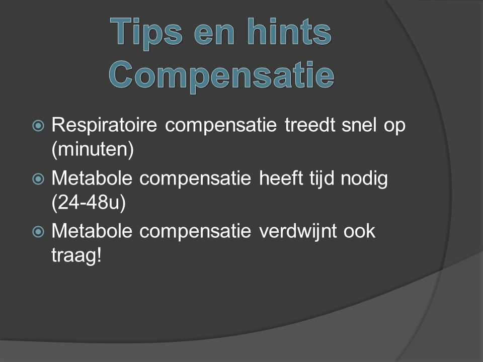 Tips en hints Compensatie