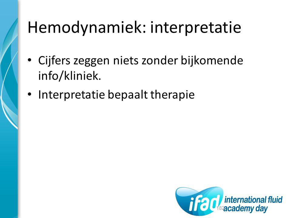 Hemodynamiek: interpretatie