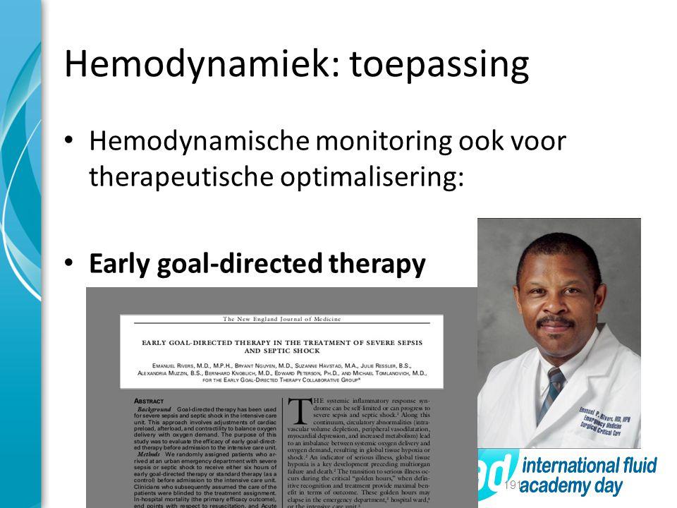 Hemodynamiek: toepassing