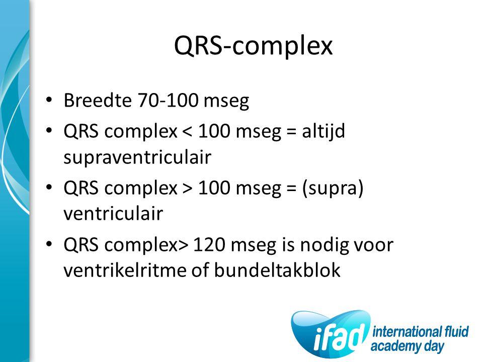 QRS-complex Breedte 70-100 mseg