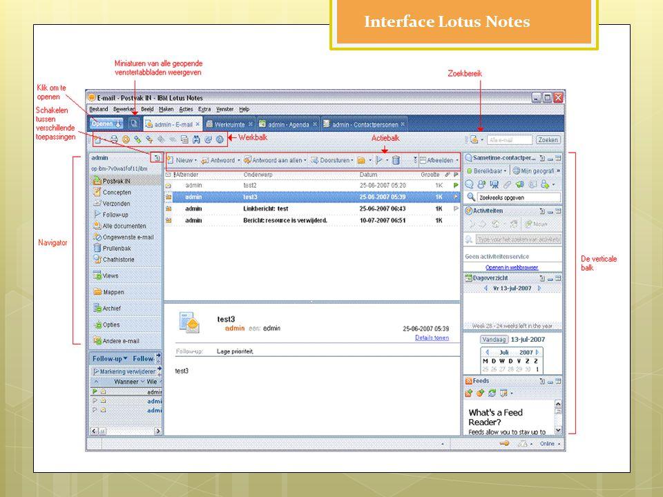 Interface Lotus Notes