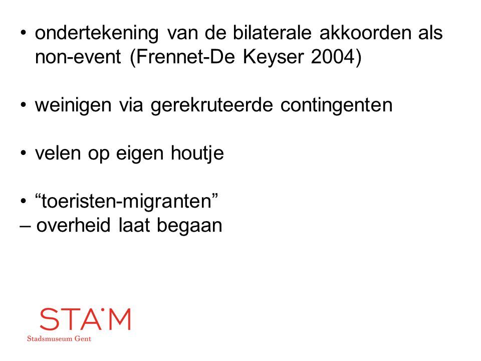 ondertekening van de bilaterale akkoorden als non-event (Frennet-De Keyser 2004)
