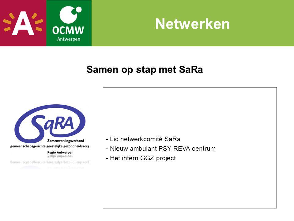 Netwerken Samen op stap met SaRa - Lid netwerkcomité SaRa