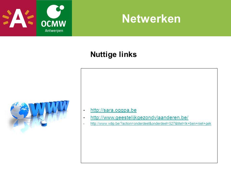 Netwerken Nuttige links http://sara.oggpa.be