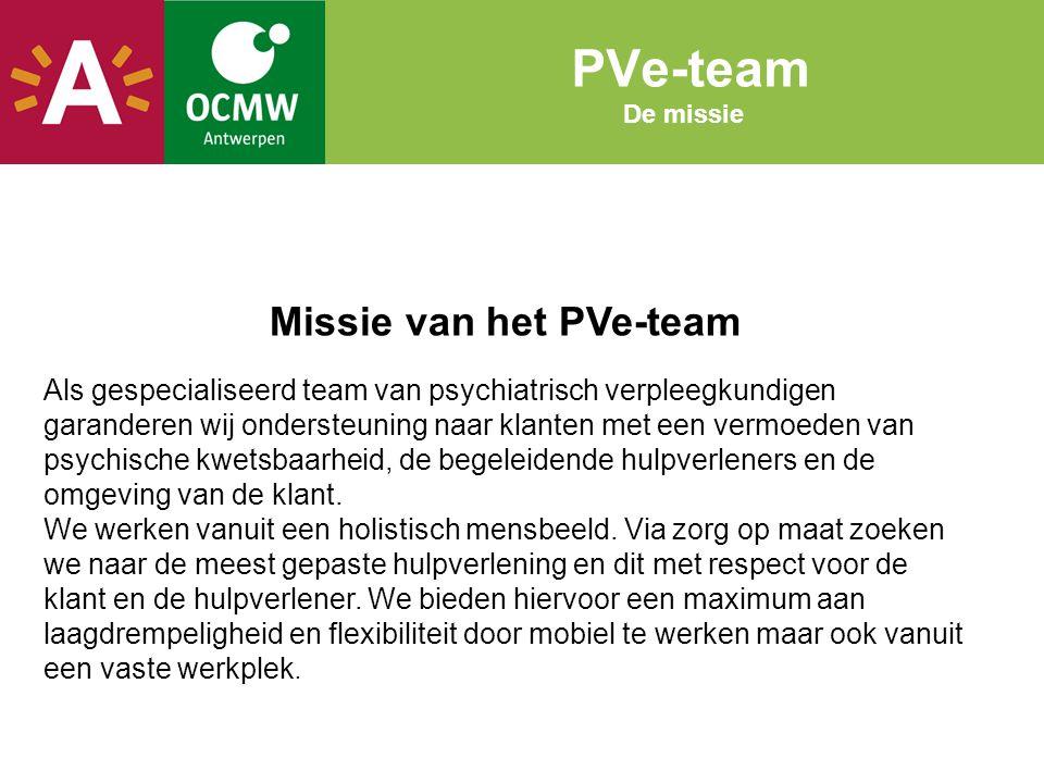 Missie van het PVe-team