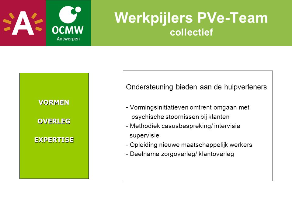Werkpijlers PVe-Team collectief