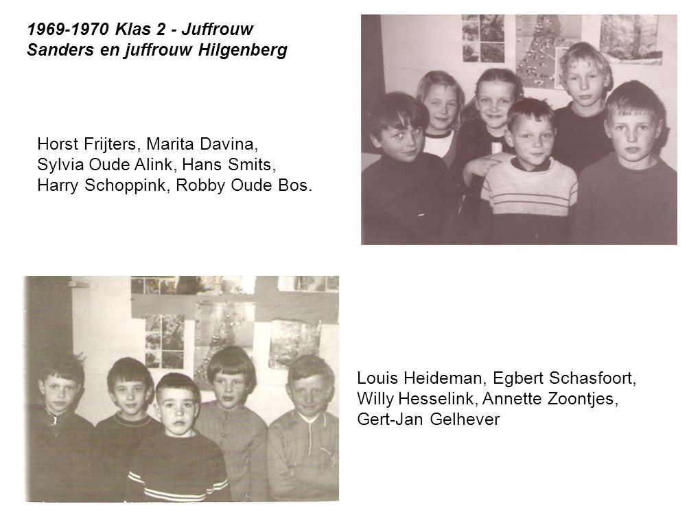 1969-1970 Klas 2 - Juffrouw Sanders en juffrouw Hilgenberg