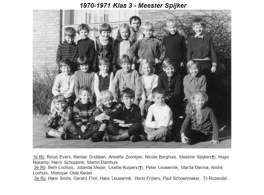 1970-1971 Klas 3 - Meester Spijker