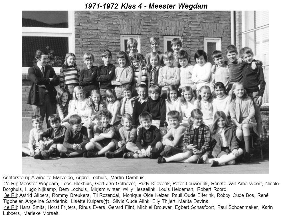1971-1972 Klas 4 - Meester Wegdam