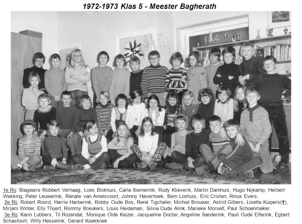 1972-1973 Klas 5 - Meester Bagherath