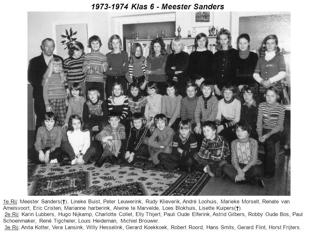 1973-1974 Klas 6 - Meester Sanders