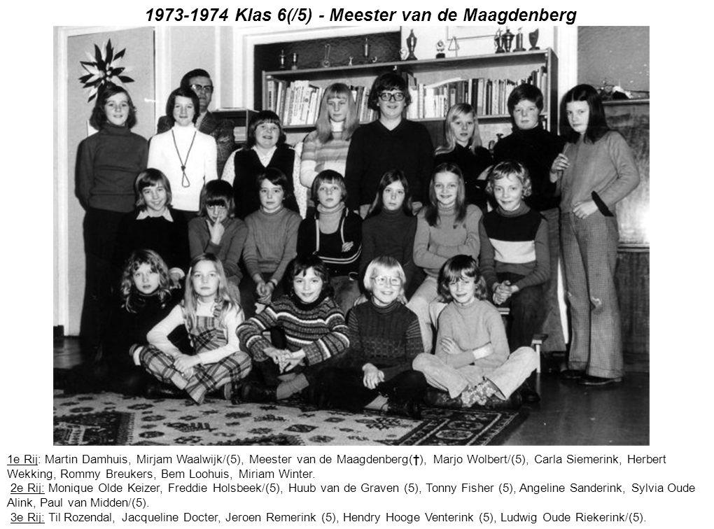 1973-1974 Klas 6(/5) - Meester van de Maagdenberg