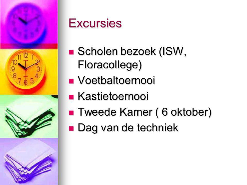 Excursies Scholen bezoek (ISW, Floracollege) Voetbaltoernooi