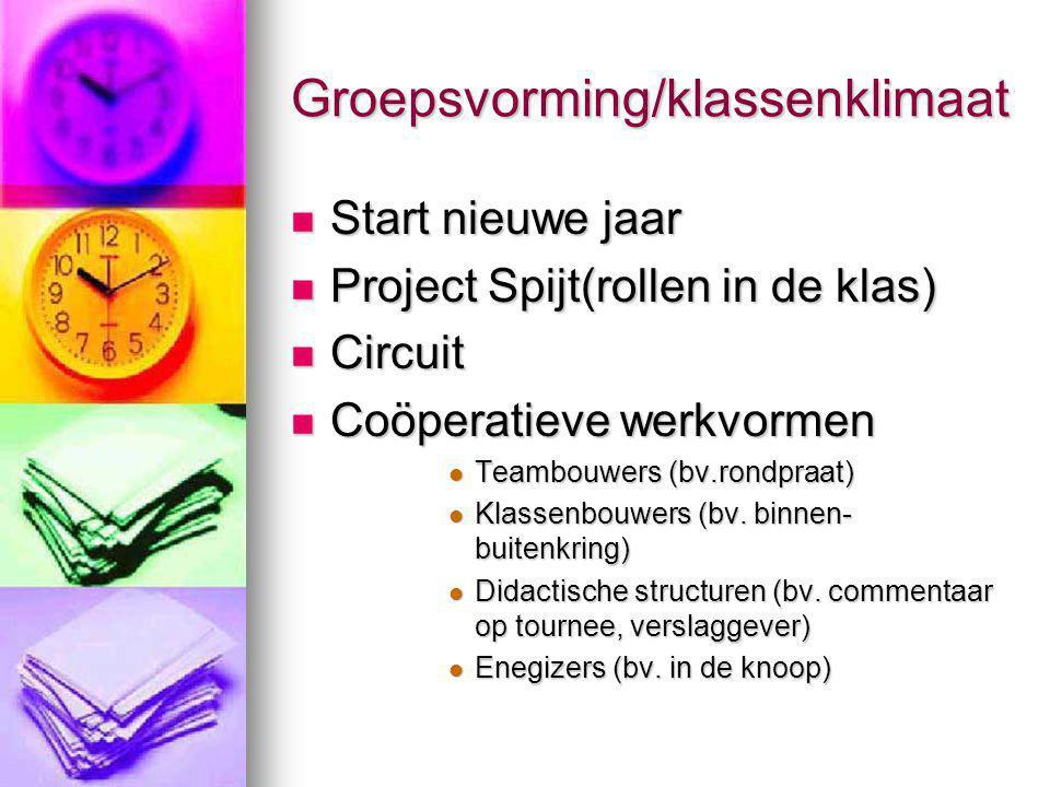 Groepsvorming/klassenklimaat