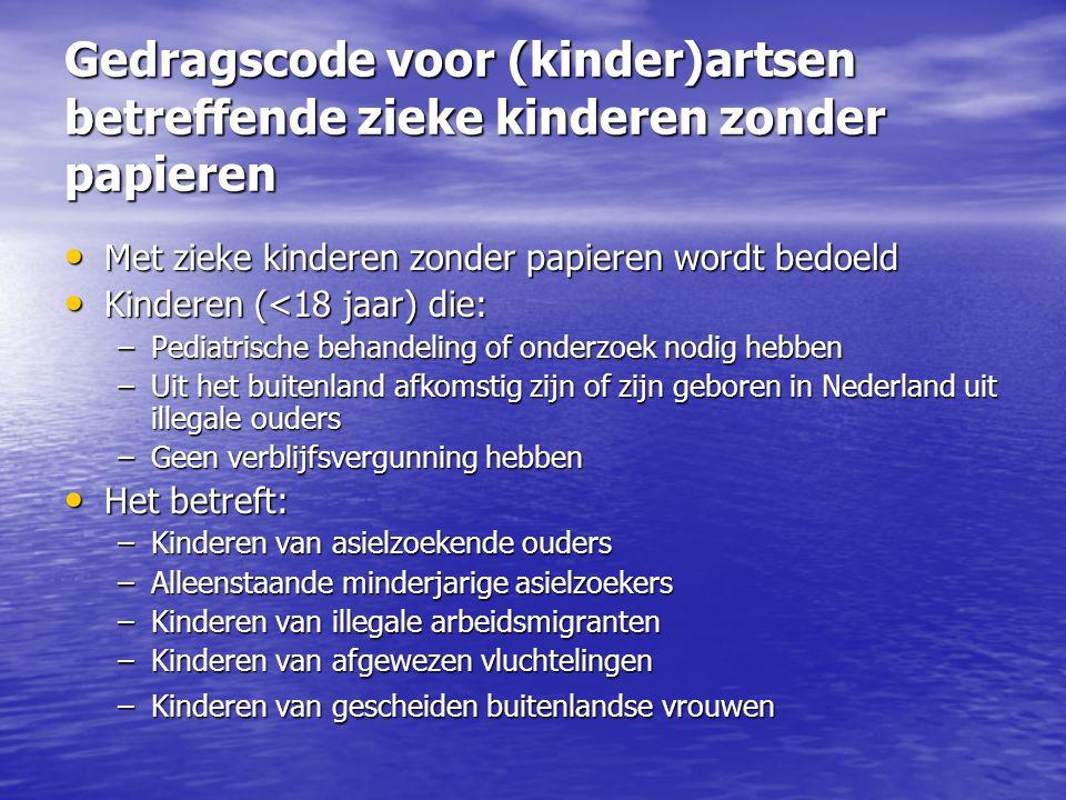 Gedragscode voor (kinder)artsen betreffende zieke kinderen zonder papieren