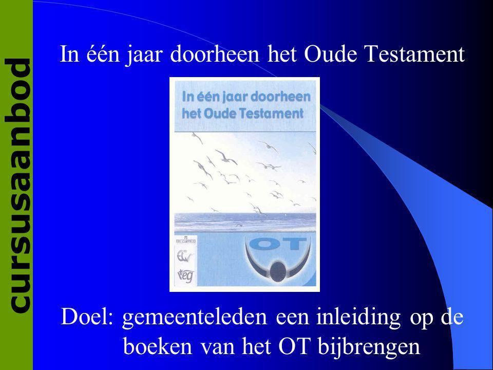 cursusaanbod In één jaar doorheen het Oude Testament