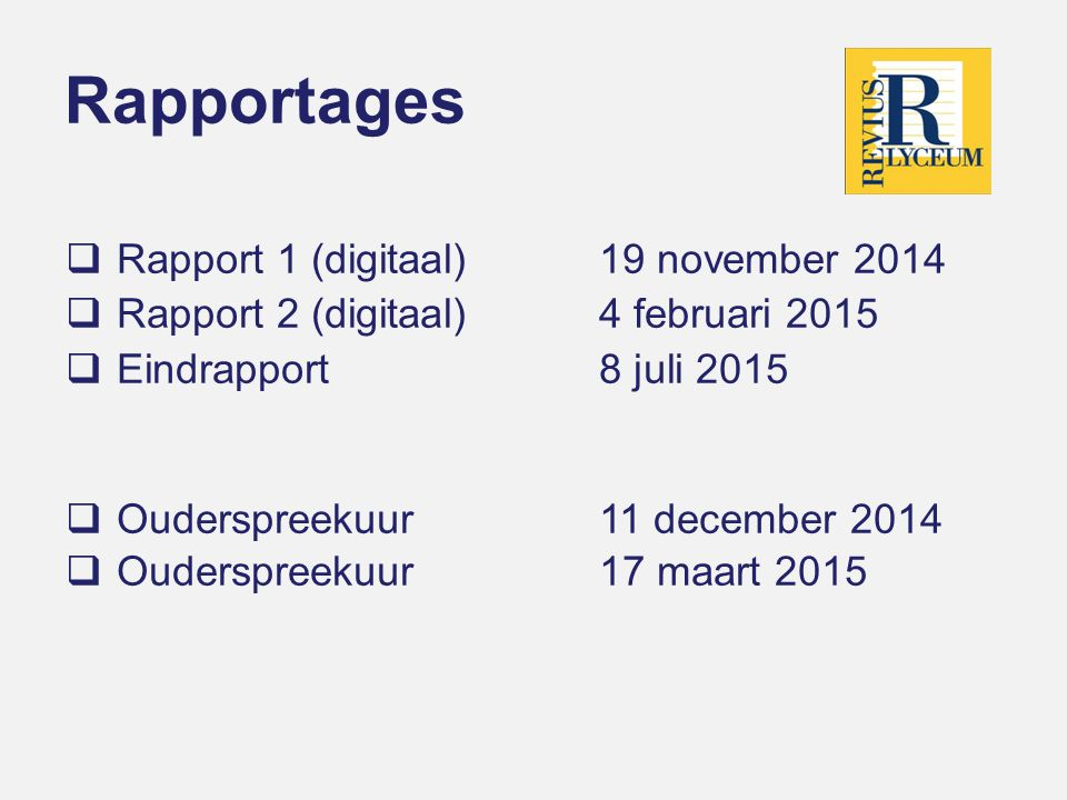 Rapportages Rapport 1 (digitaal) 19 november 2014