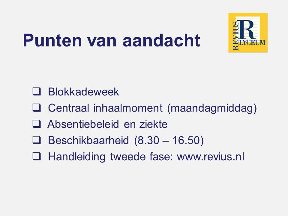 Punten van aandacht Blokkadeweek Centraal inhaalmoment (maandagmiddag)