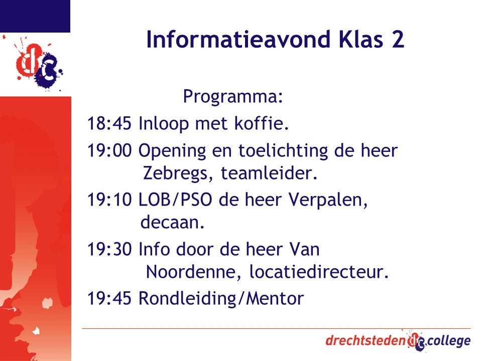 Informatieavond Klas 2