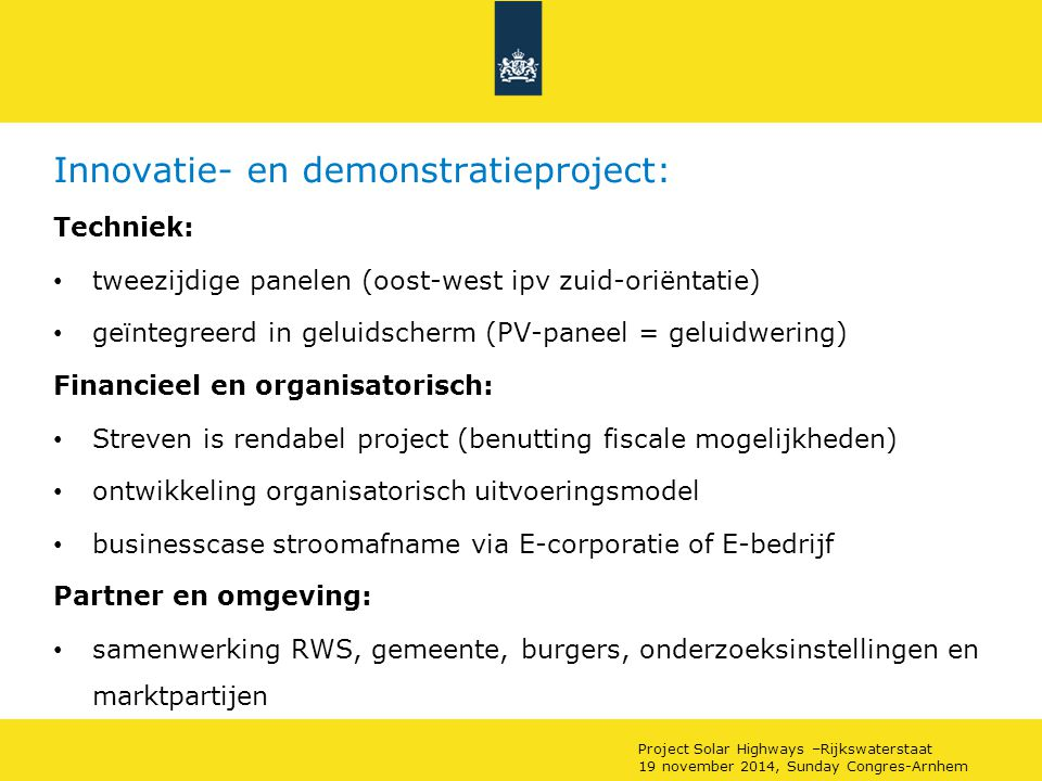 Innovatie- en demonstratieproject:
